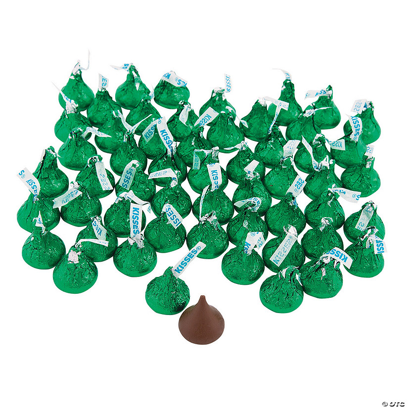 Hershey&#8217;s<sup>&#174;</sup> Kisses<sup>&#174;</sup> Green Chocolate Candy - 400 Pc. Image Thumbnail