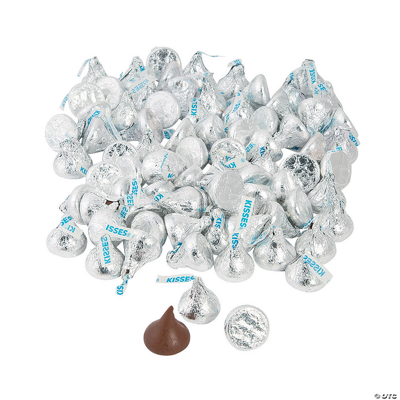 Hershey&#8217;s<sup>&#174;</sup> Kisses<sup>&#174;</sup> Silver Chocolate Candy - 400 Pc. Image Thumbnail