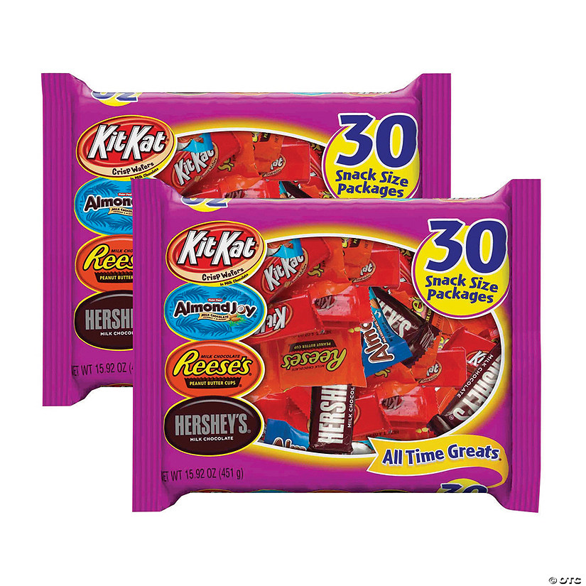 HERSHEY'S All Time Greats Snack Size Assortment - 2 Pack, 15.92oz bags Image Thumbnail