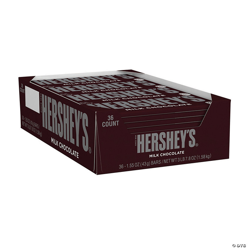 HERSHEY'S Full Size Milk Chocolate Bar, 1.55 oz, 36 Count Image Thumbnail