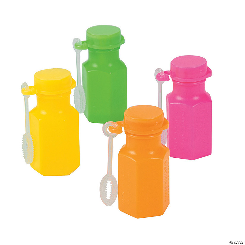 Hexagon Neon Mini Bubble Bottles Image Thumbnail