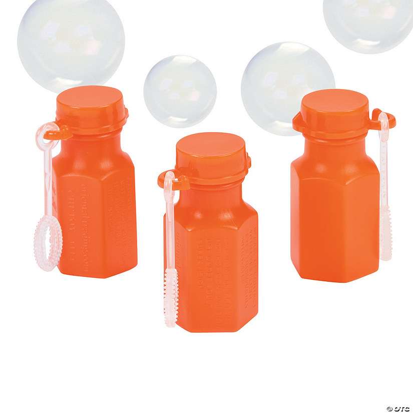 Hexagon Orange Mini Bubble Bottles Image Thumbnail