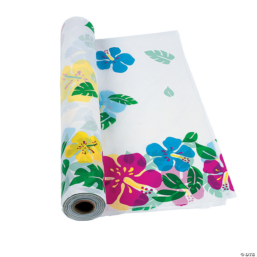 Hibiscus Plastic Tablecloth Roll Audio Thumbnail