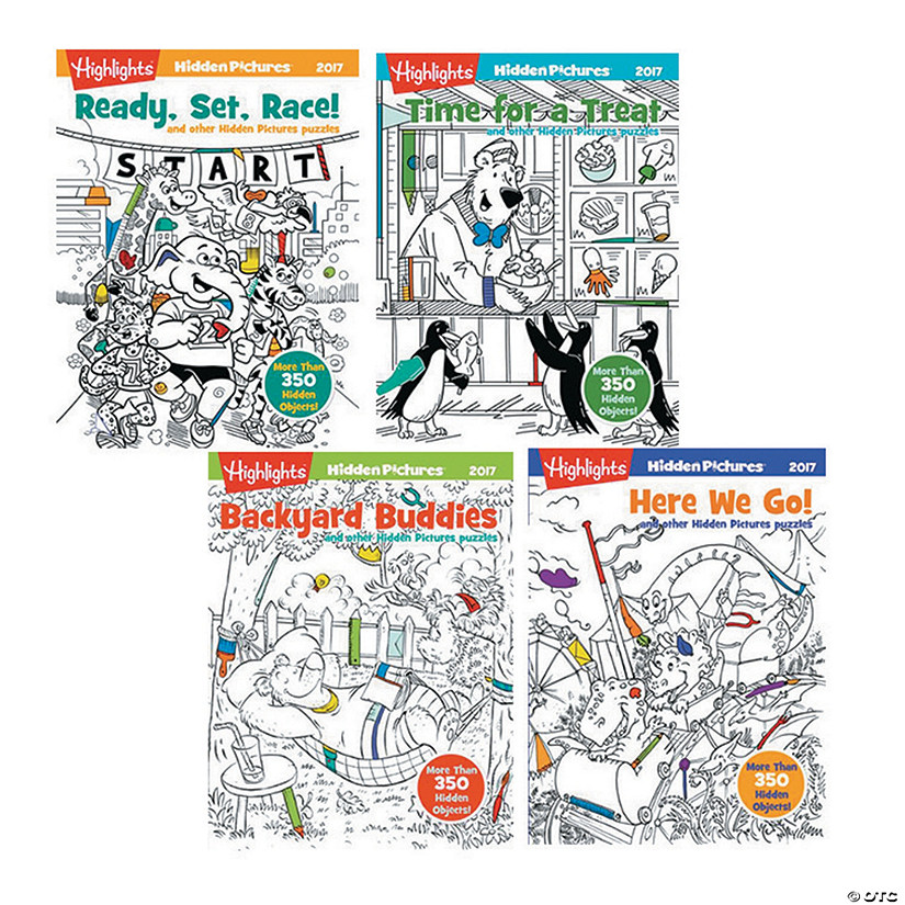 Highlights Hidden Pictures Books 2017: Set of 4