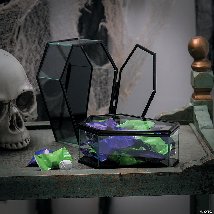 Hinged Glass Coffins Halloween Décor