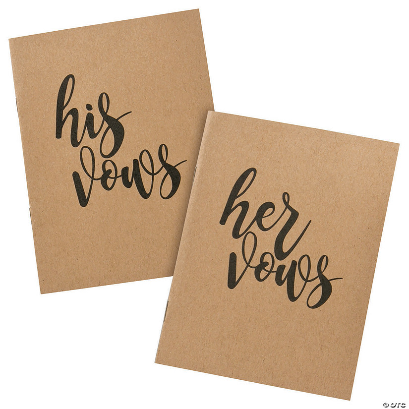 His & Hers Wedding Vow Books