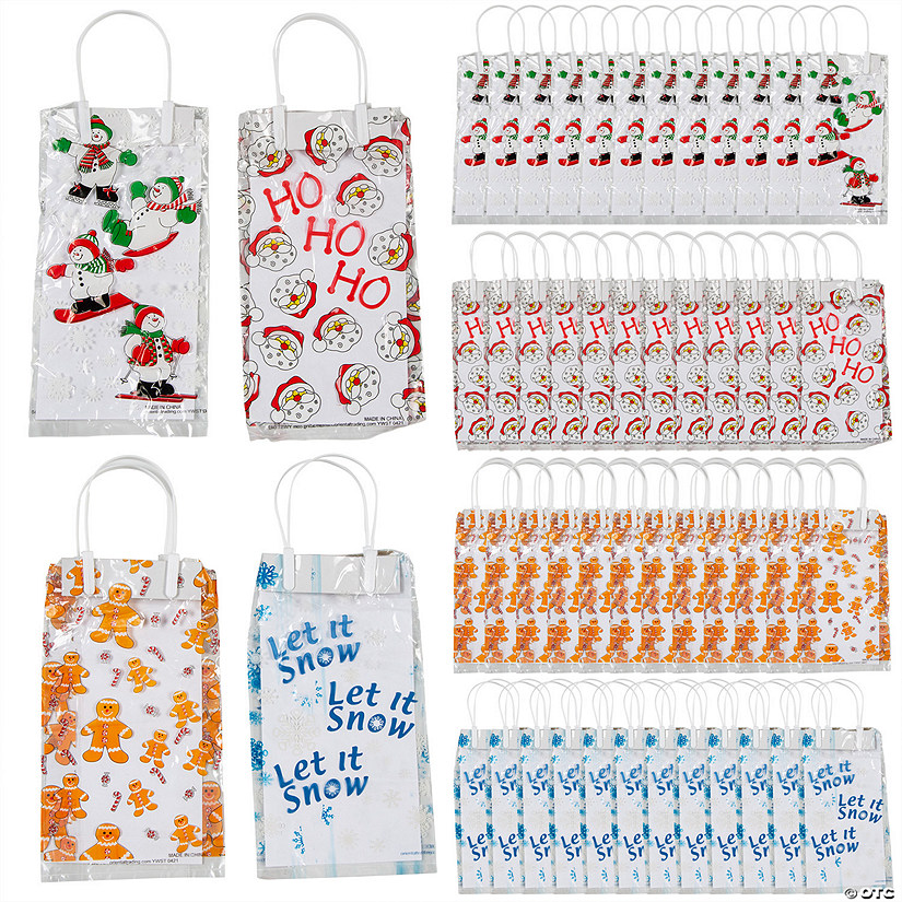 Holiday Cellophane Bags with Handles