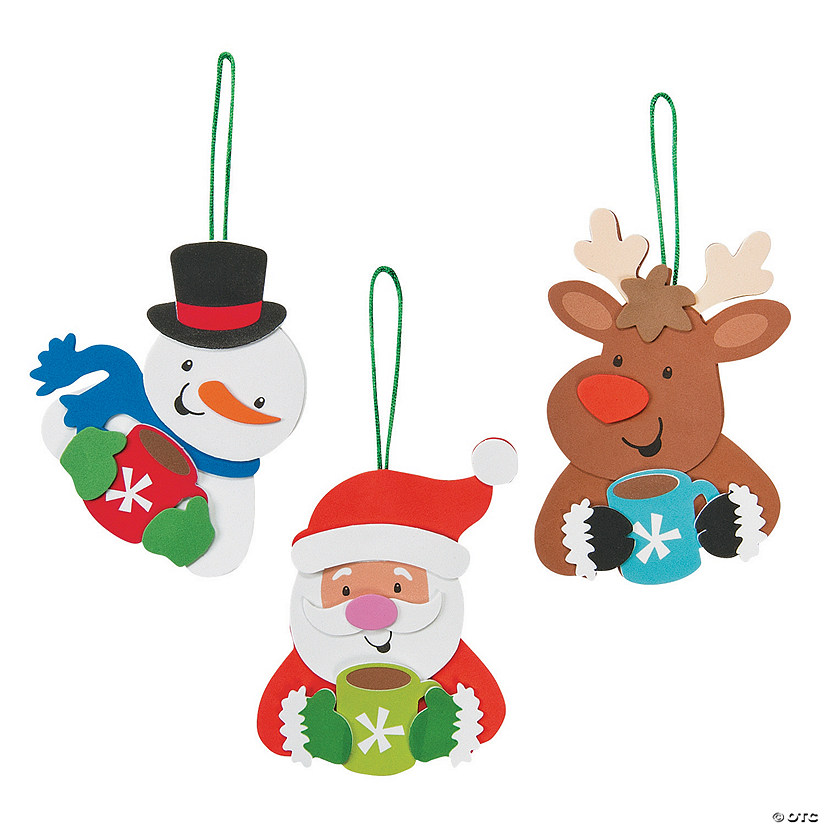 Holiday Characters Drinking Cocoa Ornament Craft Kit Audio Thumbnail