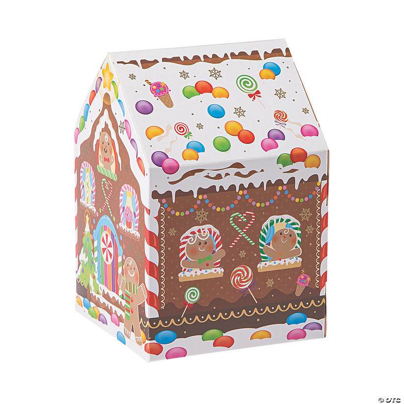 Holiday Gingerbread House Favor Boxes Image Thumbnail