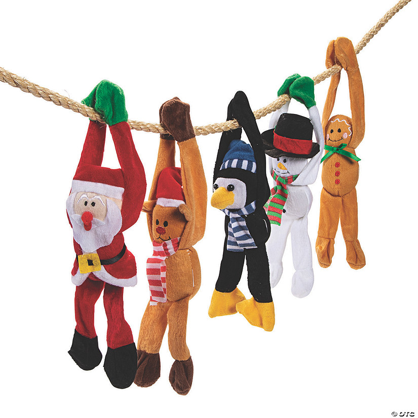 Holiday Long Arm Plush Character Assortment Image Thumbnail