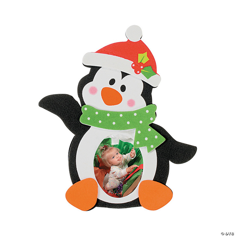 Holiday Penguin Picture Frame Magnet Craft Kit