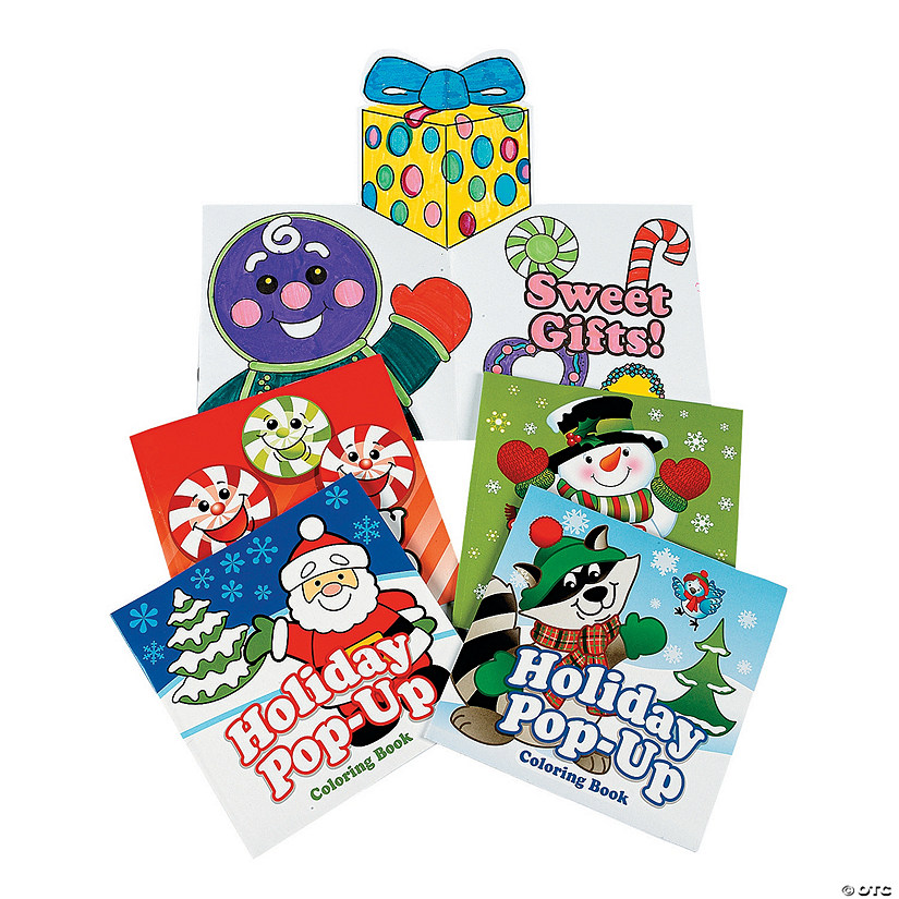 Holiday Pop-Up Coloring Books - Discontinued