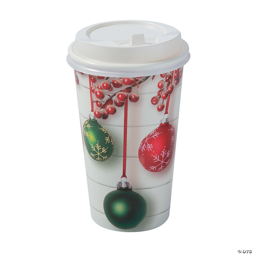 Holiday Shiplap Insulated Coffee Paper Cups with Lids ...
