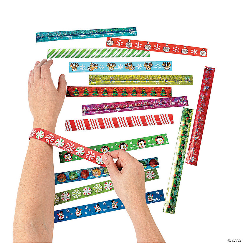 Holiday Slap Bracelet Assortment Audio Thumbnail