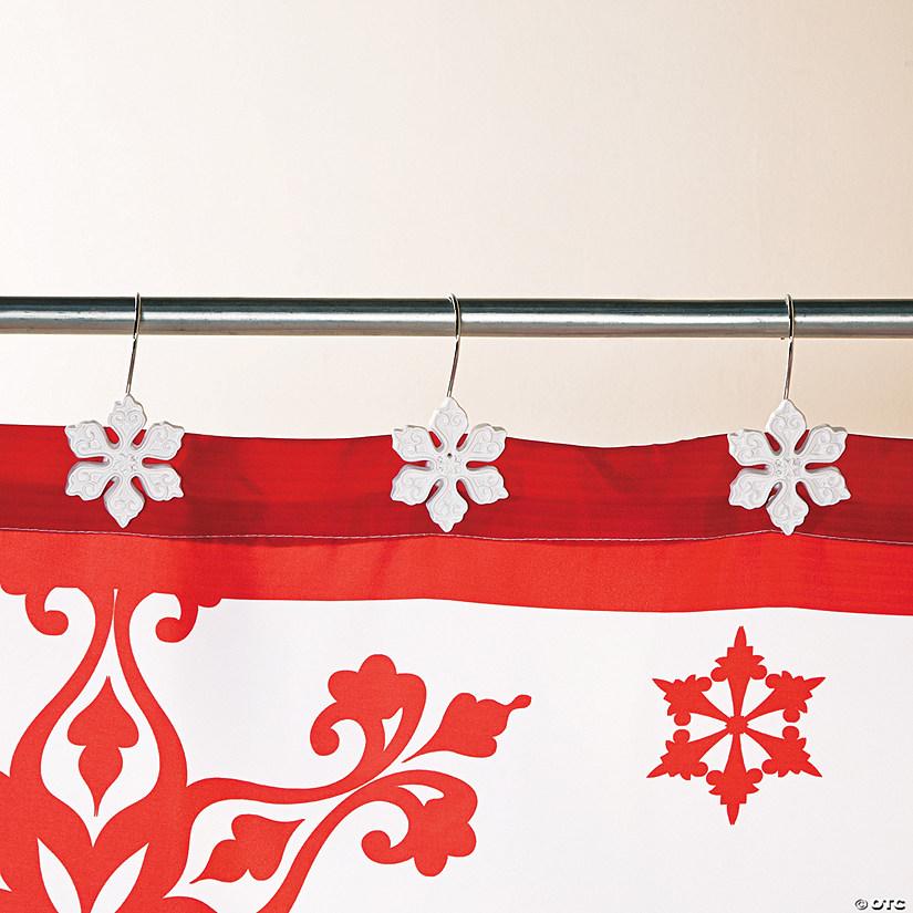 Holiday Snowflake Shower Hooks