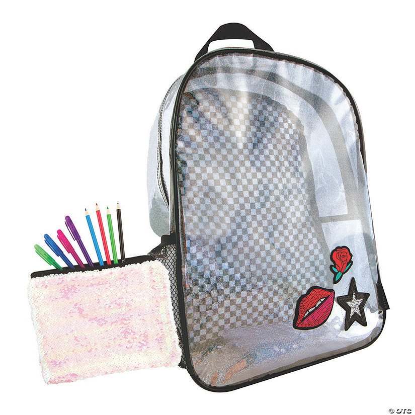 Holographic Backpack with BONUS Sequin Pouch Image Thumbnail