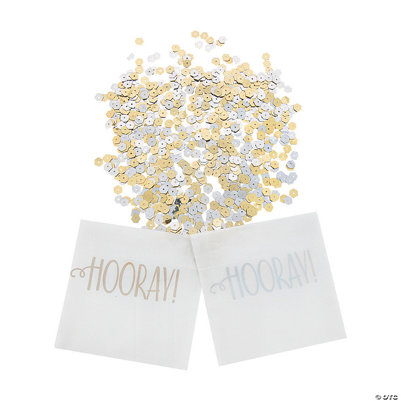 Hooray Confetti-Filled Send-Off Bags