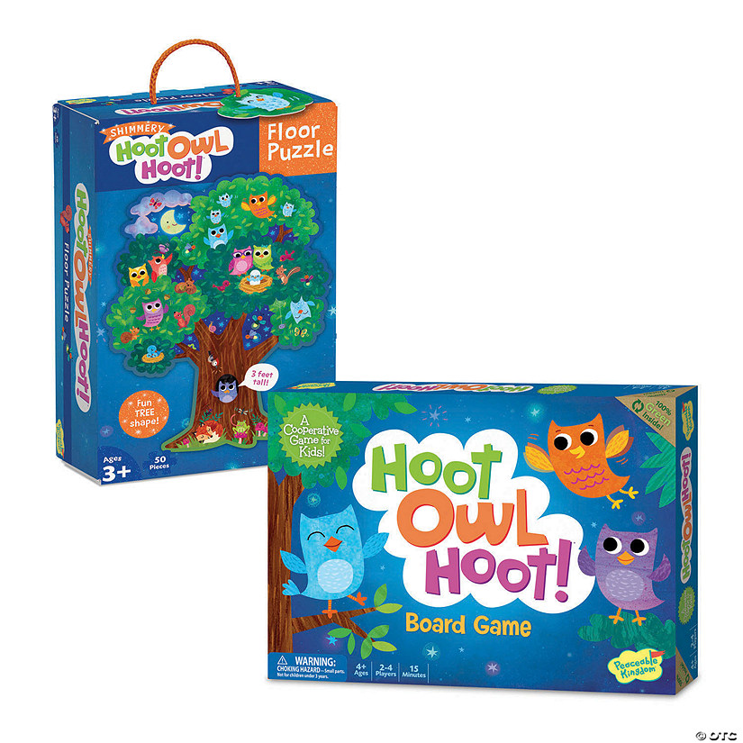 Hoot Owl Hoot Game and Puzzle Set Image Thumbnail