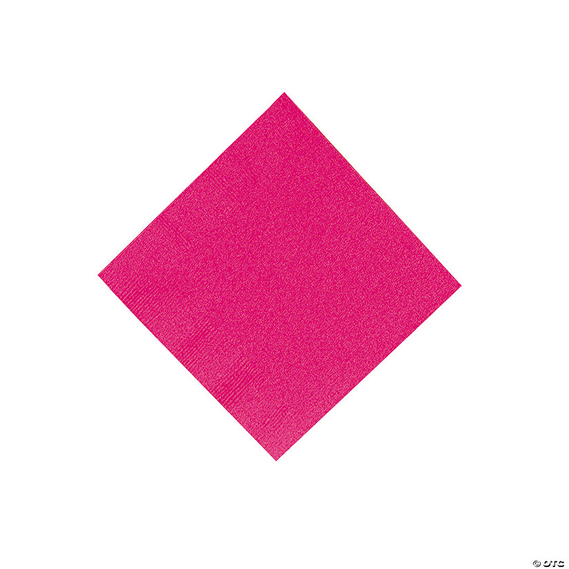 Hot Pink Beverage Napkins Audio Thumbnail