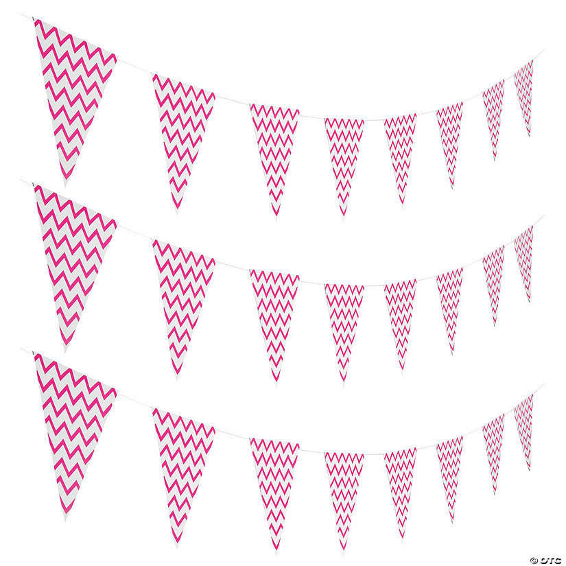 Hot Pink Chevron Pennant Banner Audio Thumbnail