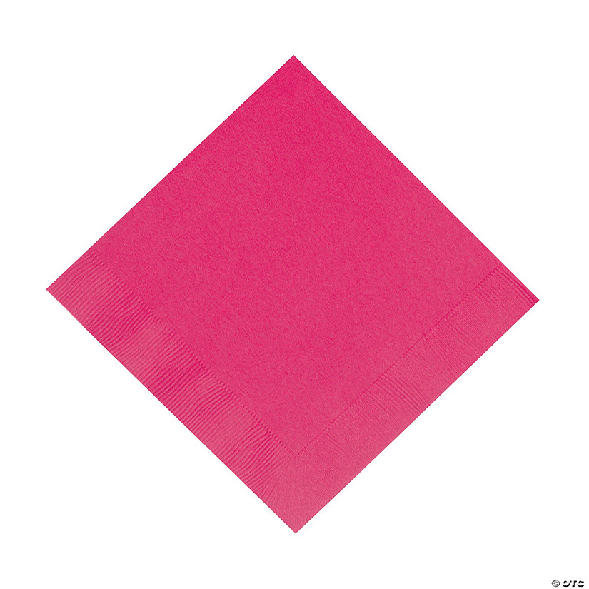 Hot Pink Luncheon Napkins Image Thumbnail
