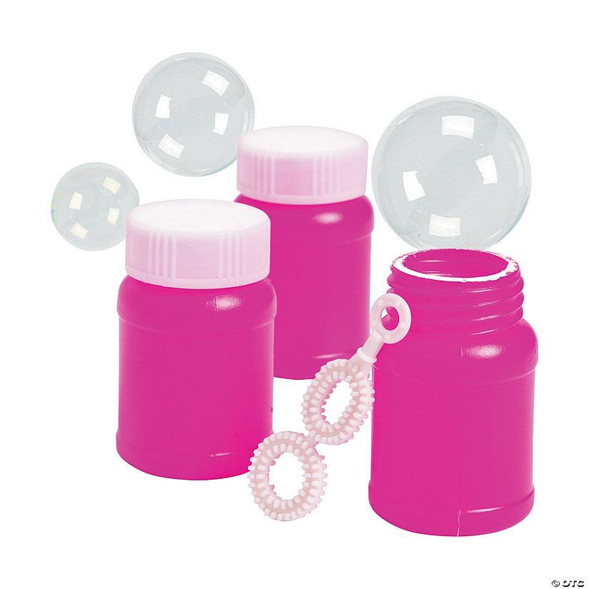 Hot Pink Mini Bubble Bottles