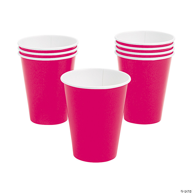 Hot Pink Paper Cups - 24 Ct. Audio Thumbnail