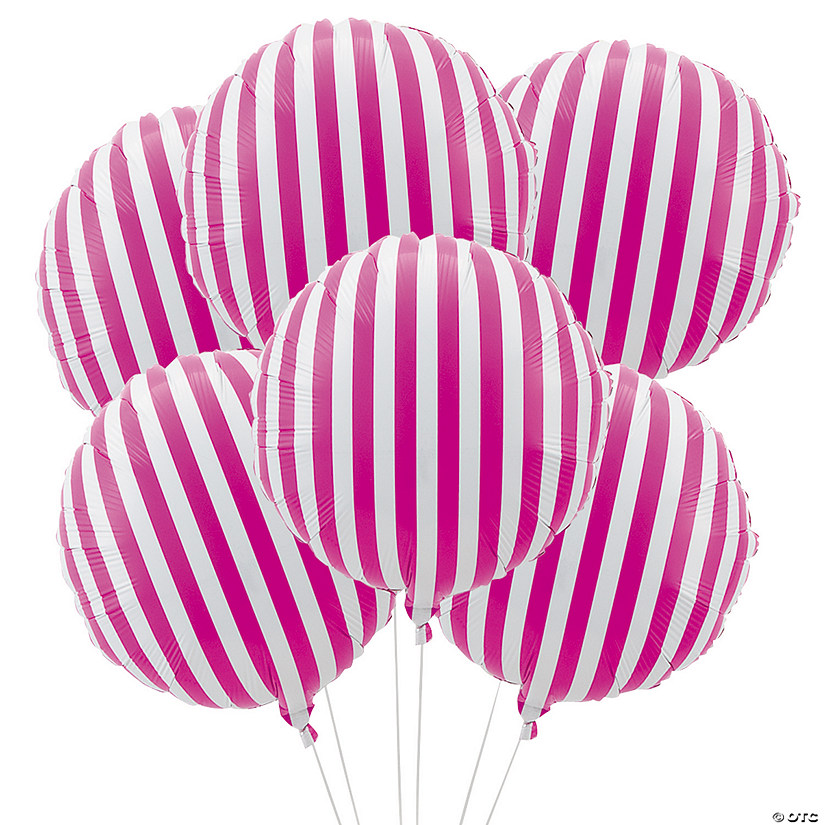 Hot Pink Striped Mylar Balloons Audio Thumbnail