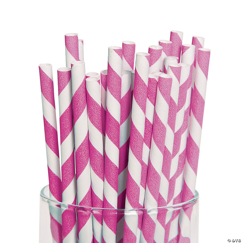 Hot Pink Striped Paper Straws Audio Thumbnail