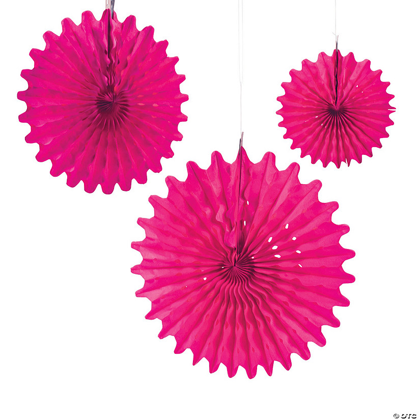 Hot Pink Tissue Hanging Fans Audio Thumbnail
