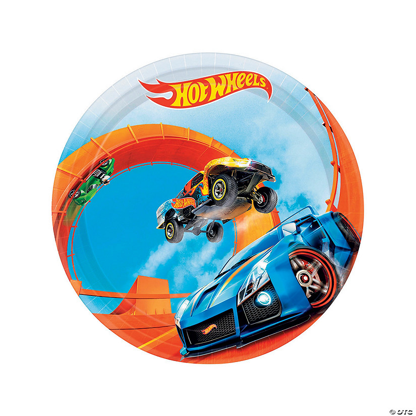Hot Wheels<sup>&#174;</sup> Wild Racer Round Paper Dessert Plates - 8 Ct. Audio Thumbnail