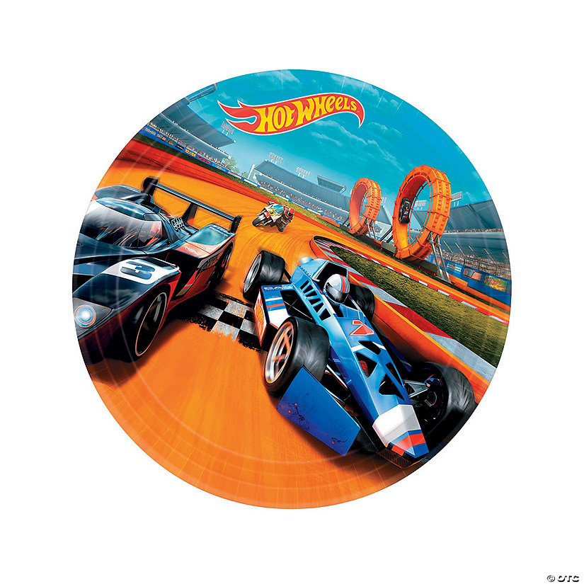 Hot Wheels<sup>&#174;</sup> Wild Racer Round Paper Dinner Plates - 8 Ct. Audio Thumbnail