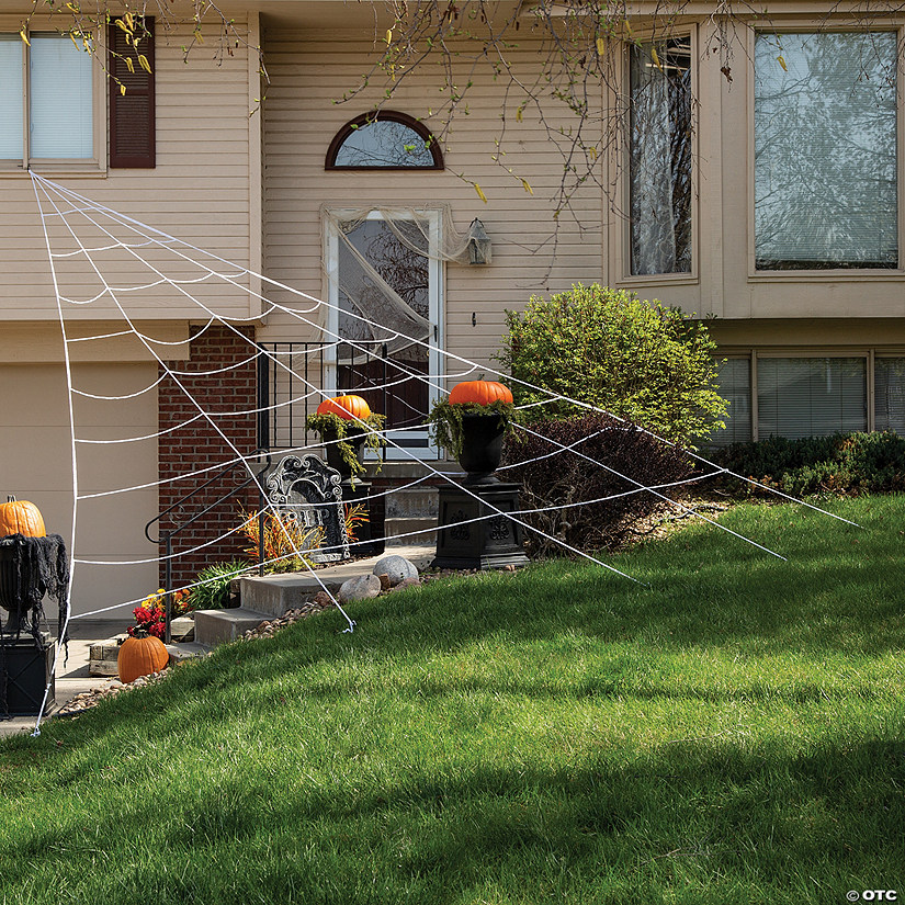 House Spider Web Halloween Decoration Image Thumbnail