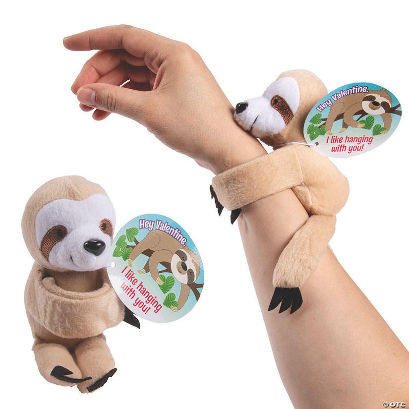Hugging Stuffed Sloth Bracelets with Valentine's Day Card Audio Thumbnail