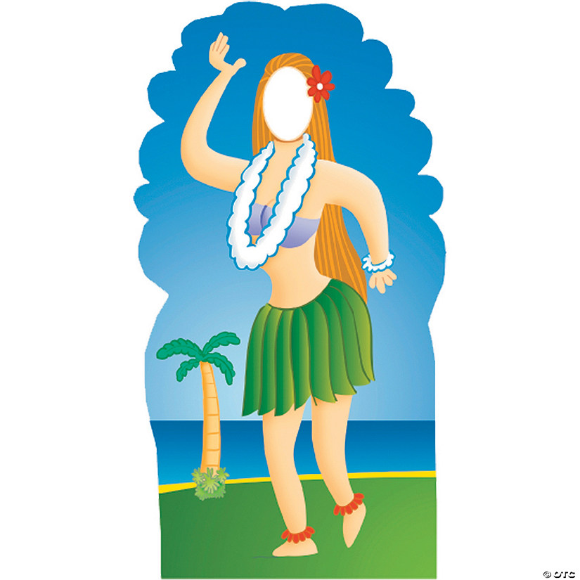 Hula Girl Cardboard Stand-In Stand-Up