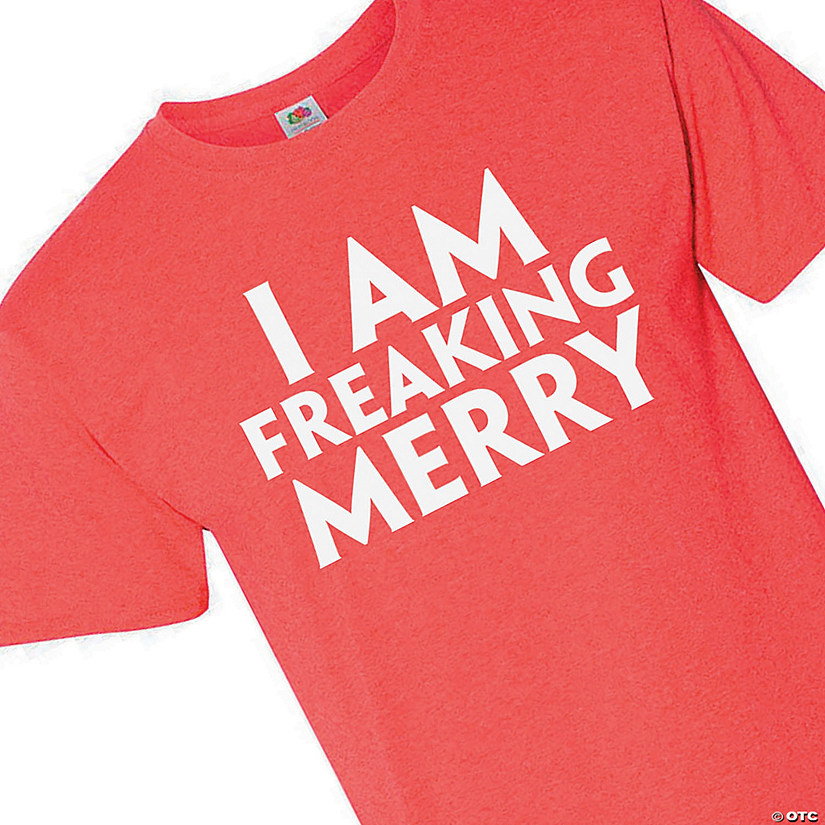 I Am Freaking Merry Adult's T-Shirt Image Thumbnail