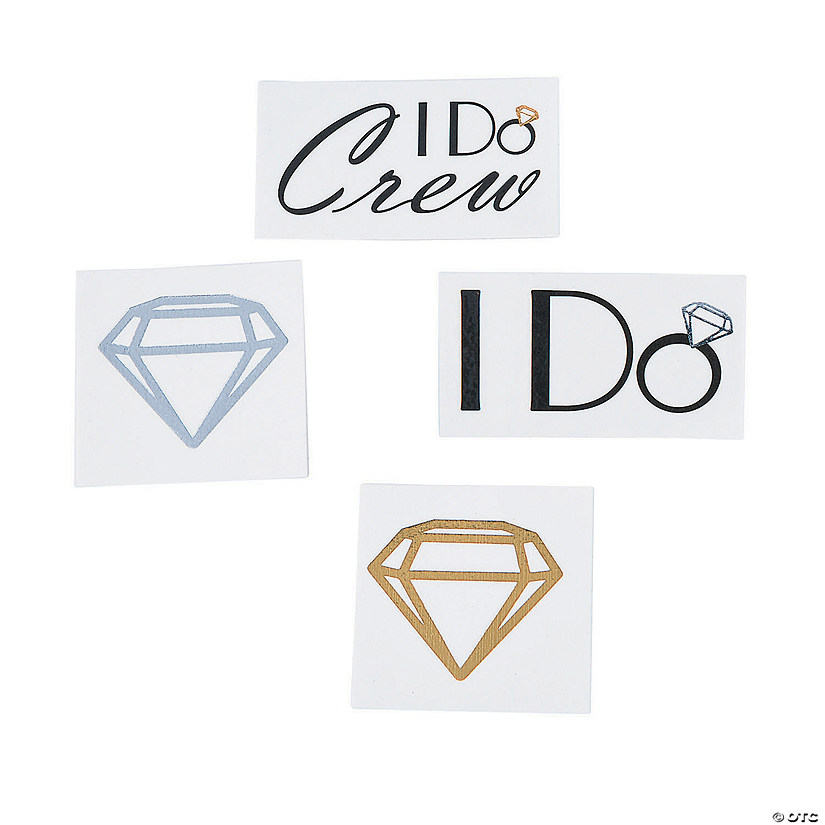 I Do Crew Metallic Temporary Tattoo Assortment Image Thumbnail