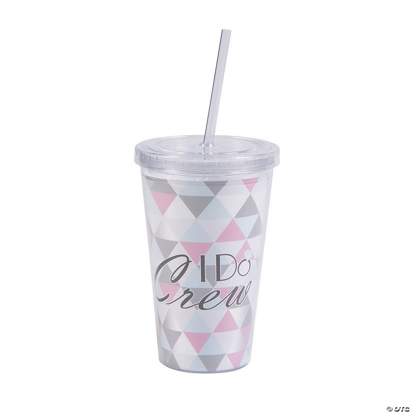I Do Crew Plastic Tumbler with Straw