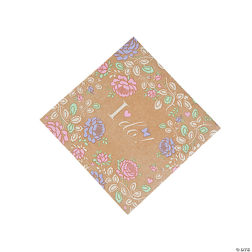 I Do Floral Luncheon Napkins Audio Thumbnail