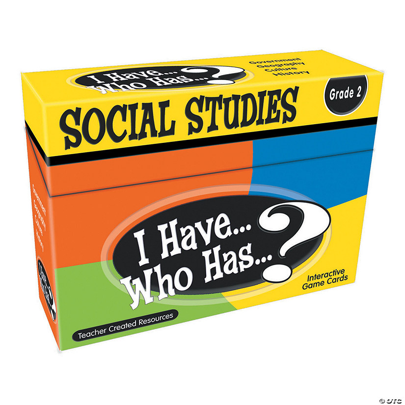 I Have Who Has Social Studies 2nd Grade Audio Thumbnail