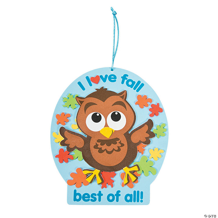 I Love Fall Owl Sign Craft Kit