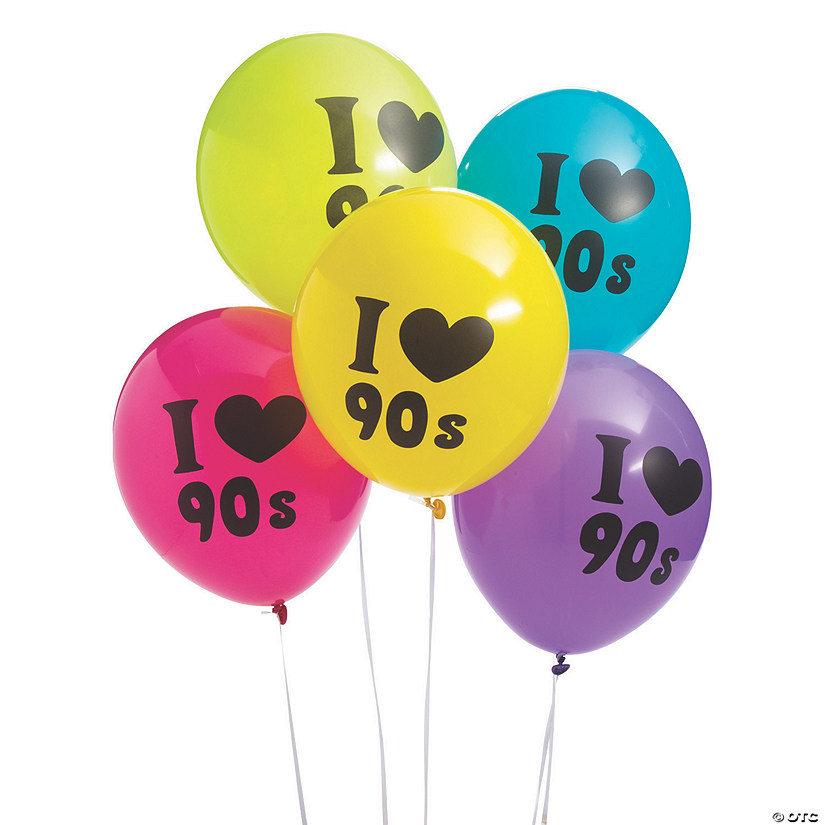 "I Love the 90s 11"" Latex Balloons Image Thumbnail"