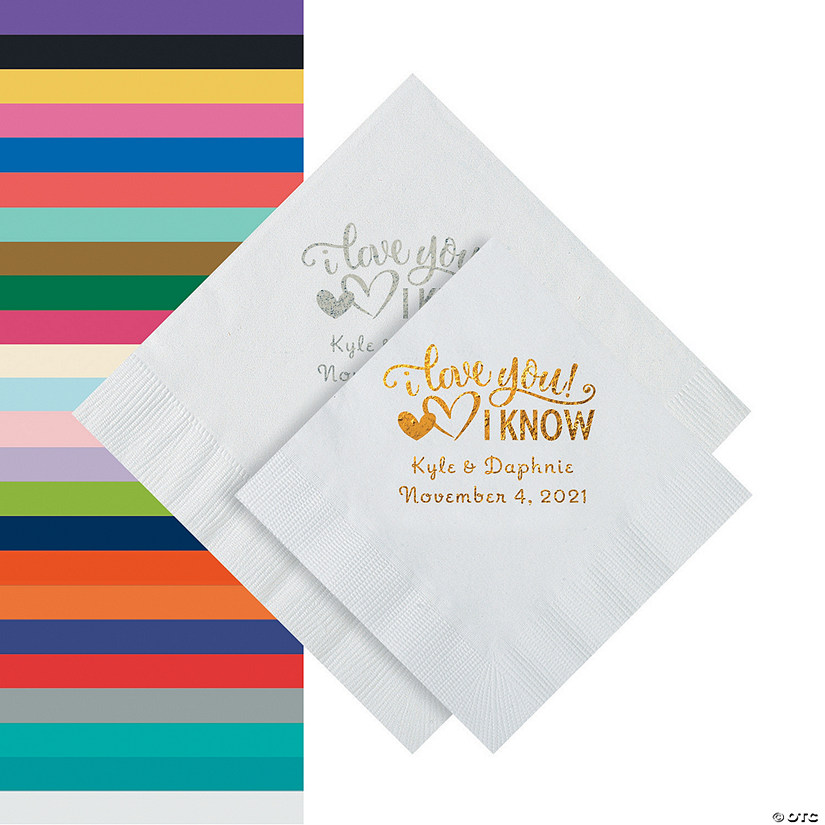 I Love You, I Know Personalized Napkins - Beverage or Luncheon Audio Thumbnail