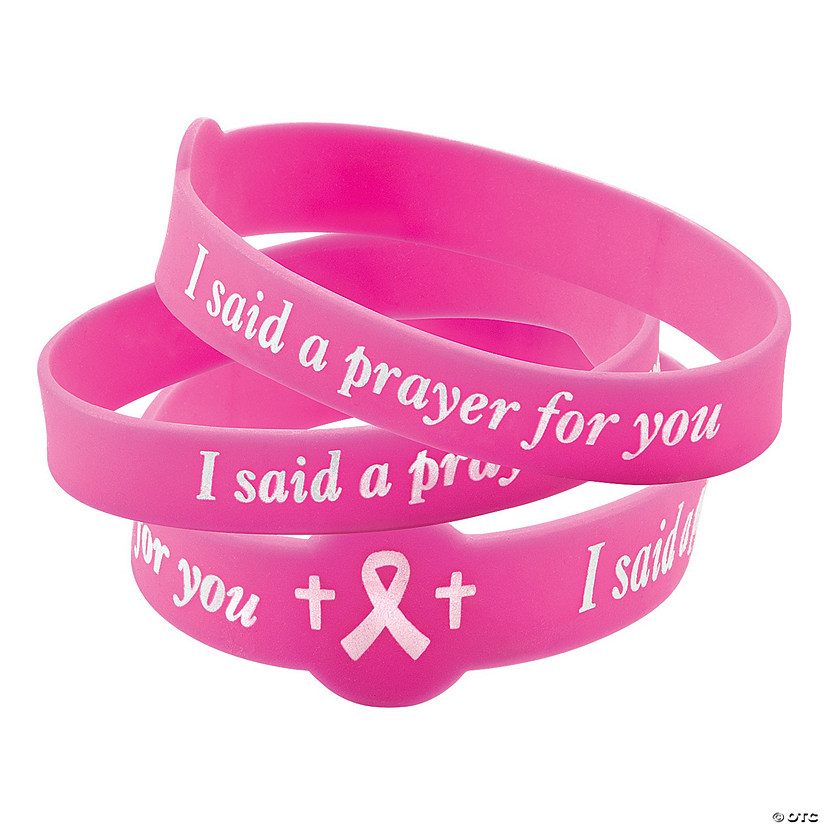 I Said A Prayer For You Pink Ribbon Rubber Bracelets Audio Thumbnail