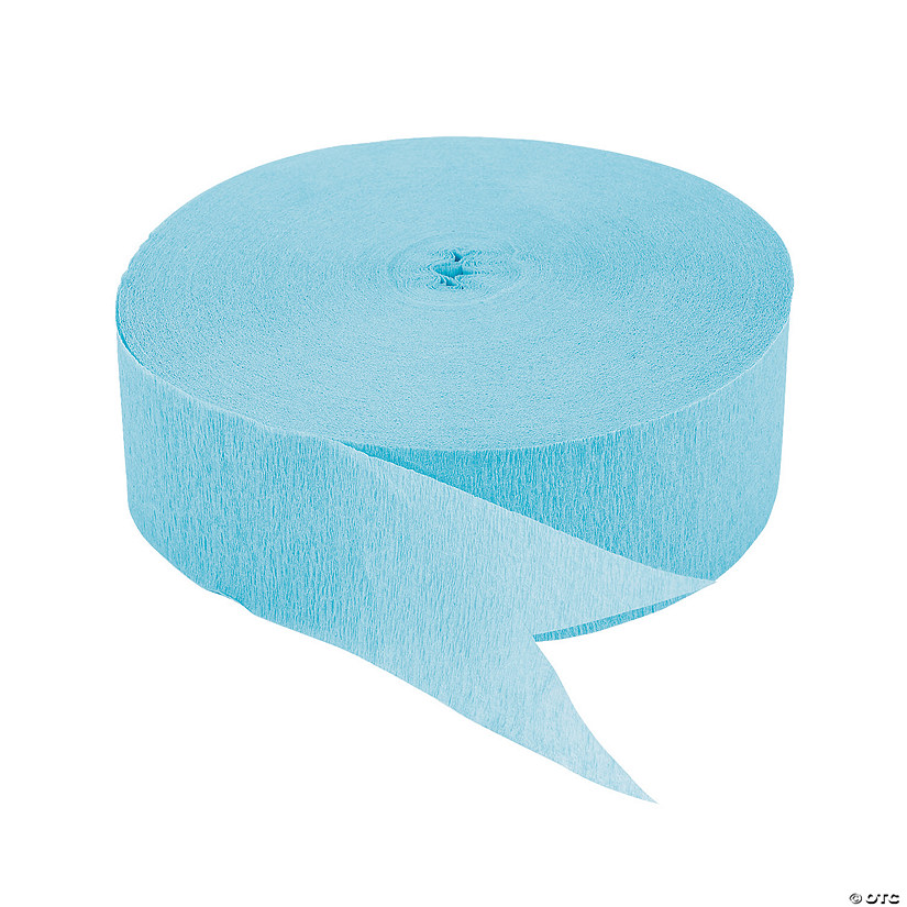 Ice Blue Jumbo Paper Streamer Audio Thumbnail
