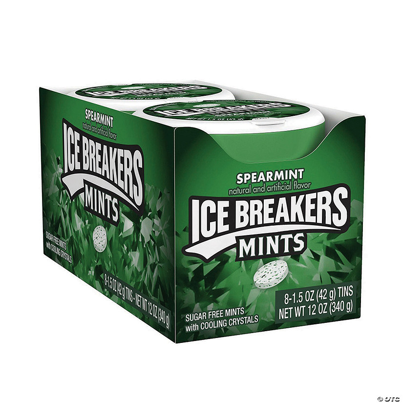 ICE BREAKERS Sugar Free Mints in Spearmint, 1.5 oz, 8 Count Image Thumbnail
