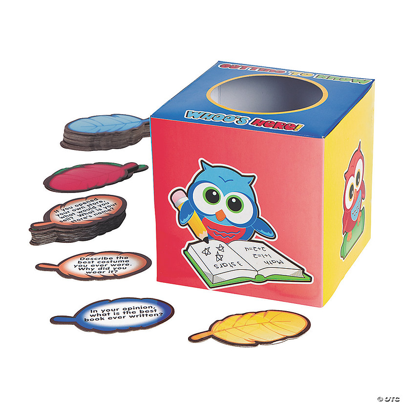 Icebreaker Owl Box and Question Card Set Brain Teasers Image Thumbnail