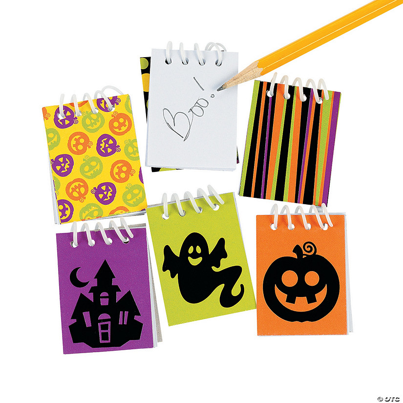 Iconic Halloween Mini Spiral Notepads Image Thumbnail