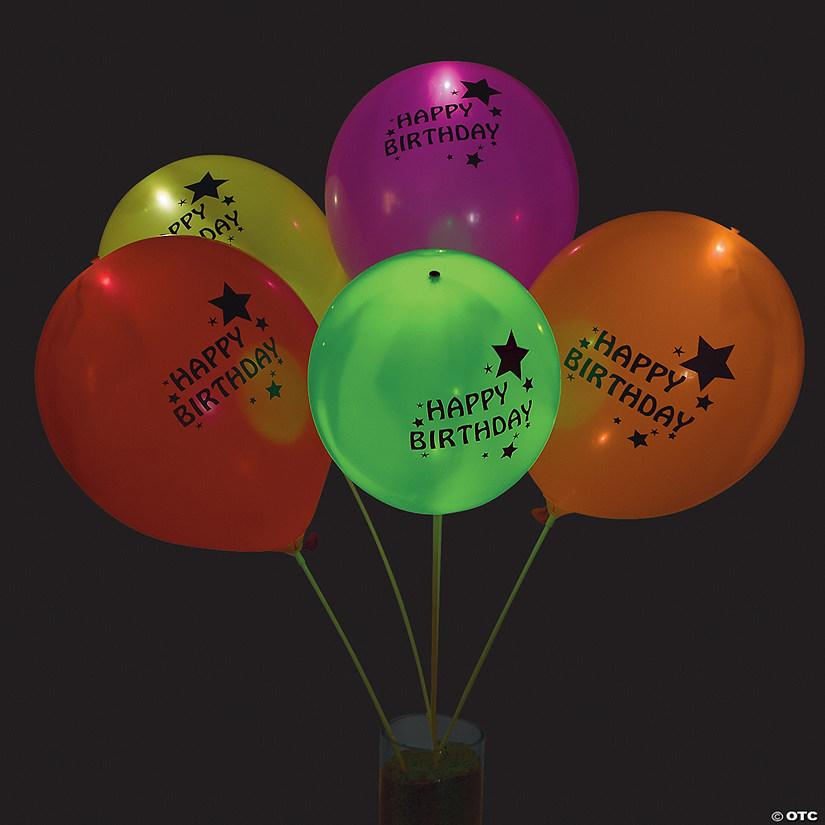IlloomsR LED Balloons Happy Birthday Light Up 9 Latex