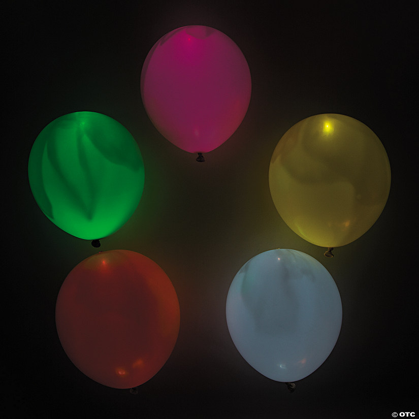 "illooms® LED Balloons Mixed Light-Up 9"" Latex Balloons"
